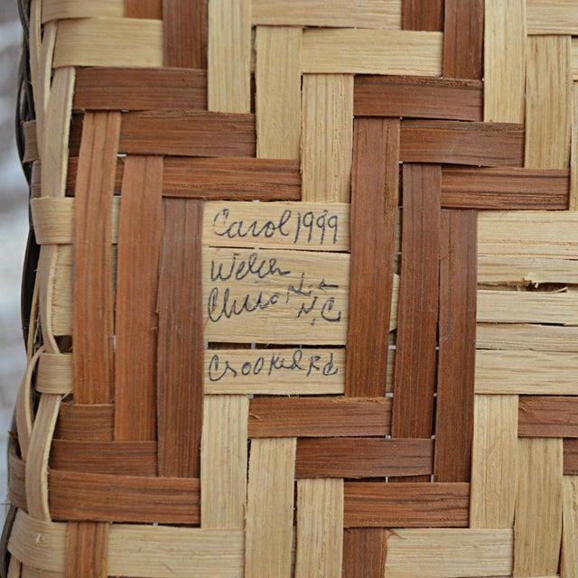Carol Welch Cherokee White Oak Small Market Basket - Image 7 of 9