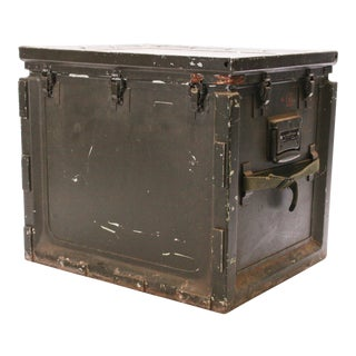 Vintage Industrial Military Metal Storage Case