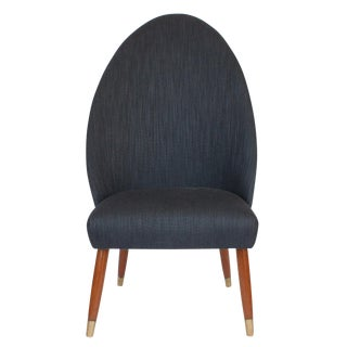 Danish Spoon Back Occasional Slipper Chair