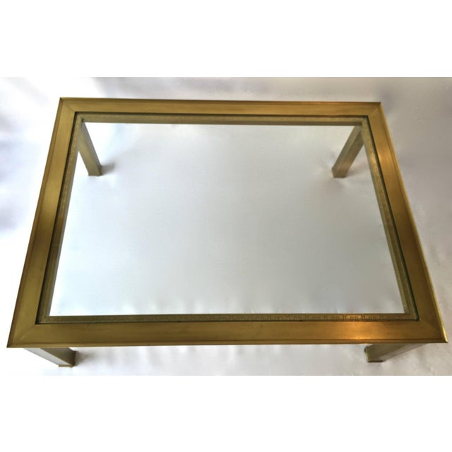 Mastercraft Solid Brass And Glass Top Coffee Table Chairish