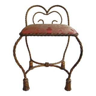 Italian Gilt Iron Rope Bench