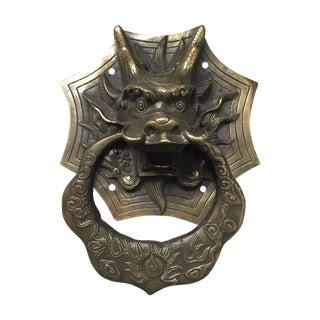 Asian Dragon Brass Door Knocker