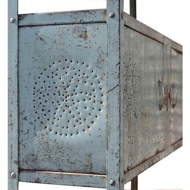 Vintage Double Door Iron Rack - Image 4 of 5