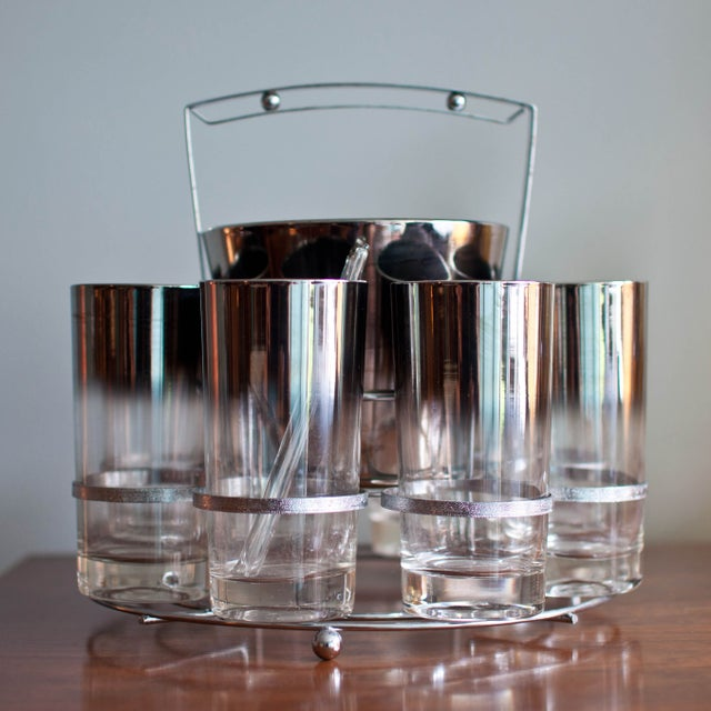 Image of Mid-Century Highball and Ice Bucket Set