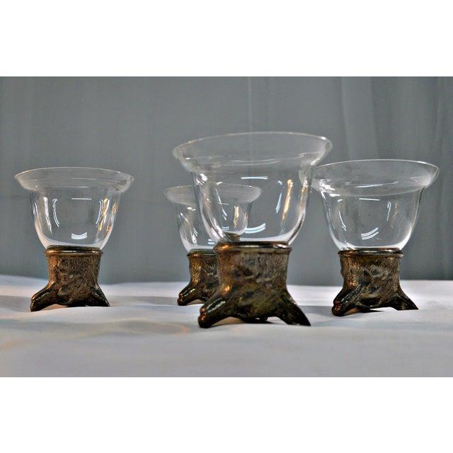 Wolf Head Stirrup Goblets - Set of 5 - Image 4 of 10