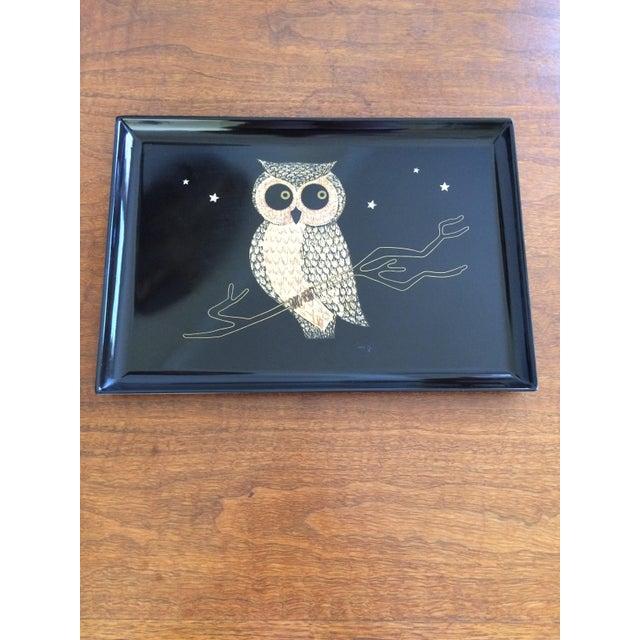 Mid-Century Owl Couroc Tray - Image 2 of 7