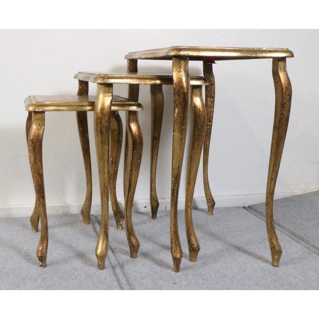 Italian Florentine Nesting Tables – Set of 3 - Image 7 of 7