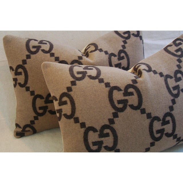 Image of Gucci Cashmere & Velvet Down Pillows- a Pair