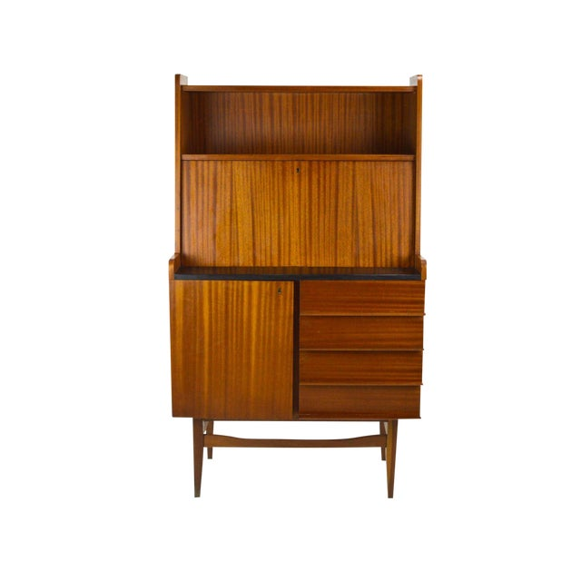 Modern Danish Style Teak Cabinet With Drop Front - Image 1 of 10