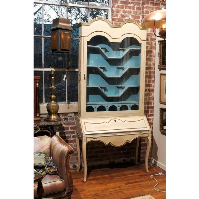 Italian Painted Secretary and Display Cabinet - Image 2 of 6