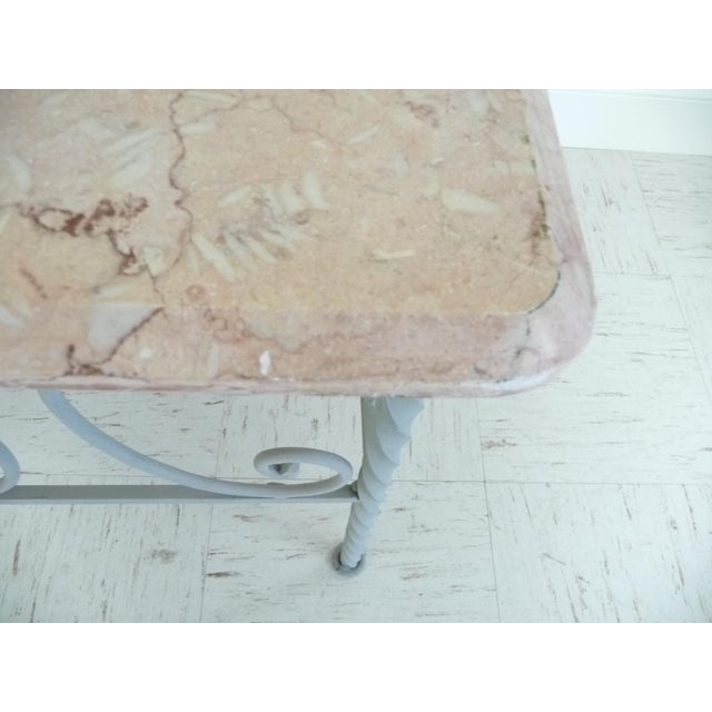 Vintage Iron & Marble Coffee Table - Image 8 of 9