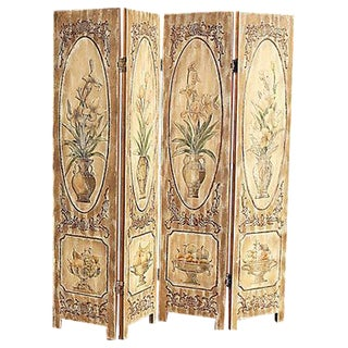 Carved Wood Room Screen