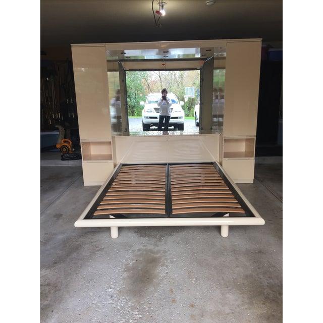Ello Vintage Mirrored Queen Platform Bed Unit - Image 2 of 11