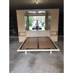Image of Ello Vintage Mirrored Queen Platform Bed Unit