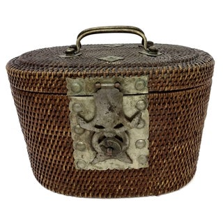 Antique Chinese Tea Basket Genuine Qing Dynasty