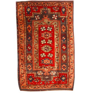 Antique 19th Century Turkish Village Rug