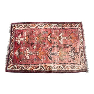 "Vintage Turkish Tribal Rug - 3'4"" x 5'"