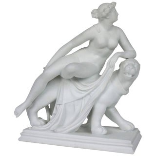 "Parian-Ware Figurine Titled ""Ariadne on a Panther,"" Minton & Co., England"
