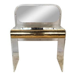Hollywood Regency Style Lucite Vanity