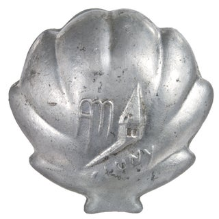 Vintage Cast Aluminum Shell Pivoting Ashtray