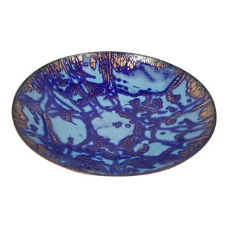 Mid-Century Copper and Enamel Bowl