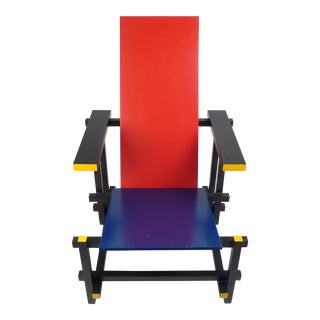 Vintage Gerrit Rietveld Chair Produced under License by Cassina