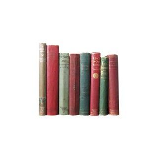 Vintage Red & Green Books Set of 8
