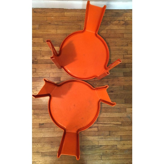 Kartell Orange Stacking Tables - A Pair - Image 6 of 6