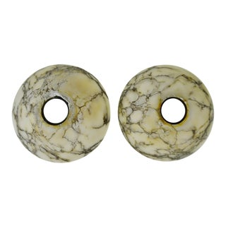 Mid Century Marble Chandelier Light Shades - A Pair
