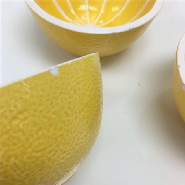Vintage Yellow Grapefruit Bowls - Set of 4 - Image 8 of 10