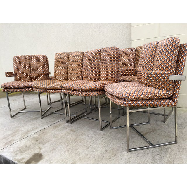 Milo Baughman ForThayer Coggin Chairs - Set of 8 - Image 9 of 11