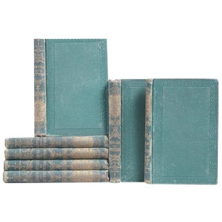 Antique Rollo's European Tour Green Books - Set of 7