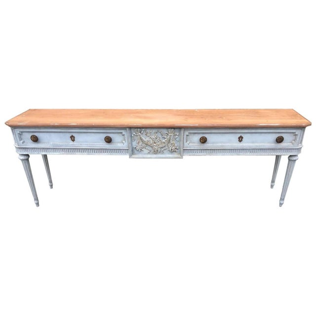 Vintage Gustavian Style French Console Table - Image 1 of 7