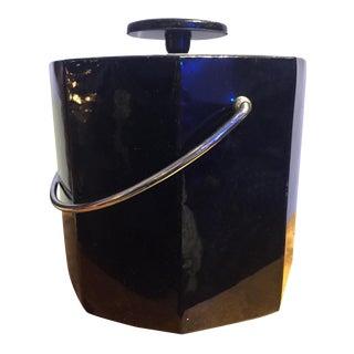 Black Mid-Century Ice Bucket