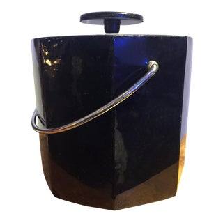 Black Mid-Century Ice Bucket