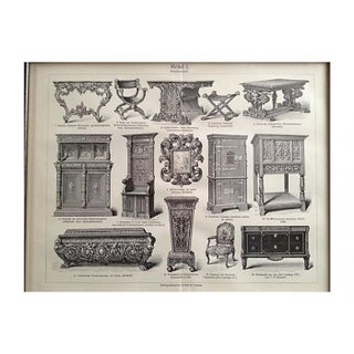 1894 Antique Furniture Engraving