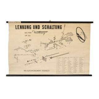 German Automotive Linen Rolled Chart I