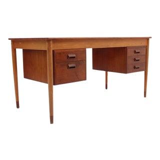 Teak/ Beech Desk by Børge Mogensen for Søborg Møbelfabrik, Scandinavian Modern