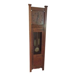 Mission Oak Grandfather Clock