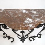 Image of 19th Century French Wrought Iron and Marble Console Table