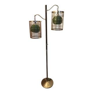 Vintage Mid-Century Spaghetti Shade Floor Lamp