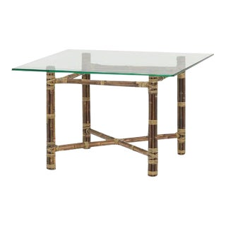John and Elinor McGuire Bamboo & Brass Table, 1955