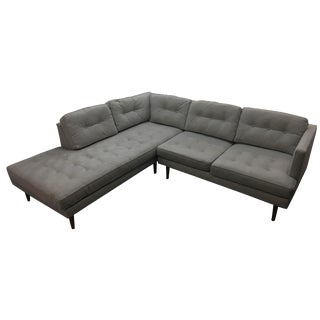 West Elm Peggy Mid-Century Chaise Sectional