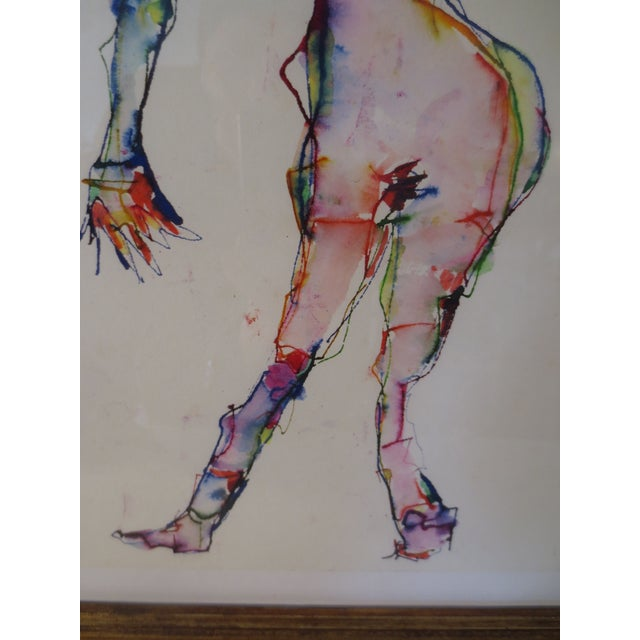 Martin Sumers Female Figure Study in Watercolor - Image 5 of 8
