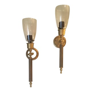 Neoclassical Candle Sconces - A Pair