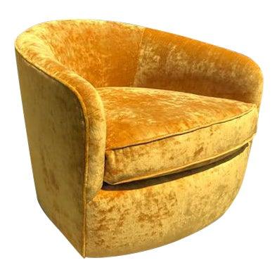 Barrel back swivel tilt chair by Milo Baughman - Image 1 of 4
