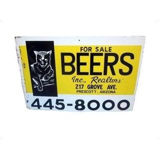 Industrial Metal Advertising Beer Sign Realtor
