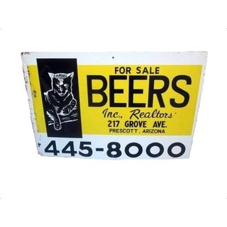 Industrial Metal Advertising Beer Sign Realtor
