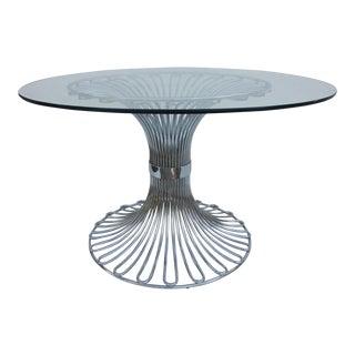 Italian Tubular Chrome Dining Table