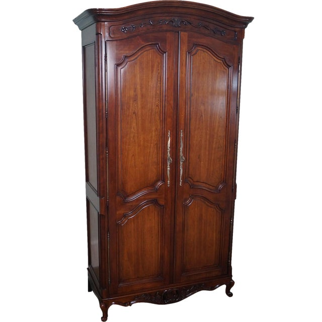 French Louis XV Style Fruitwood Armoire - Image 1 of 10